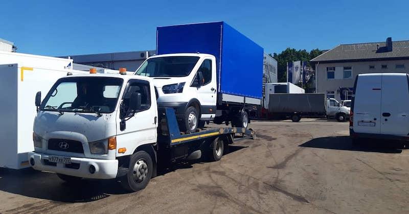Перевозка нового автомобиля Ford Transit рис. 61