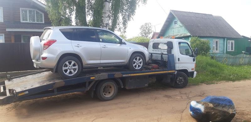 Перевозка а/м Toyota в автосервис рис. 3