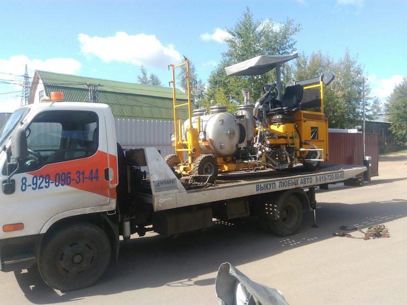 Транспортировка разметочной машины из Твери в Москву рис. 3