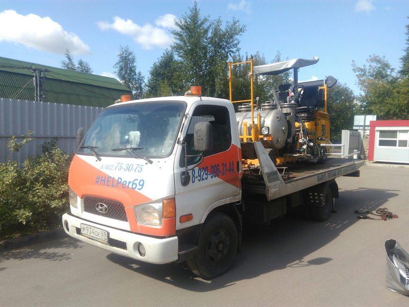 Транспортировка разметочной машины из Твери в Москву рис. 1
